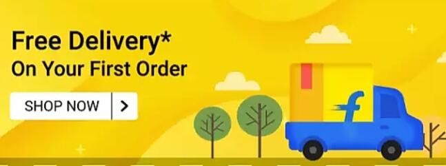 Free delivery on first order Flipkart