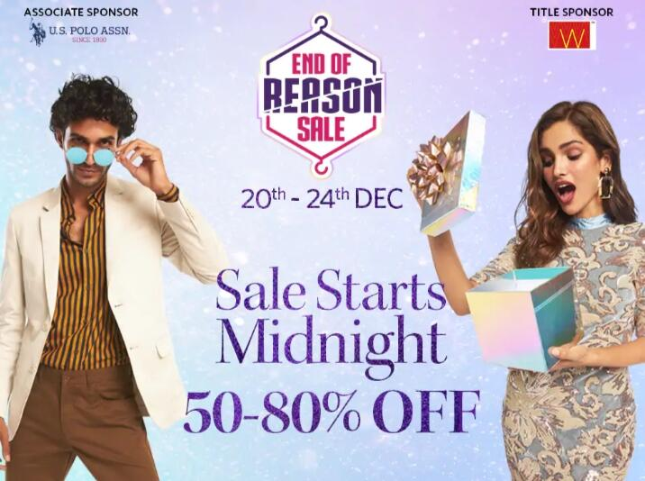 Myntra End of Reason Sale ICICI/kotak bank offer