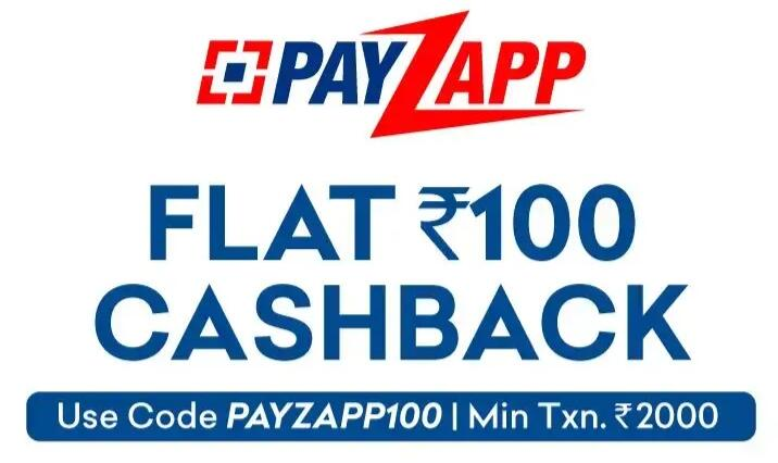 Flat Rs 100 Cashback by paying through HDFC PayZapp
