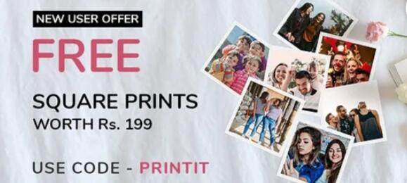 24 Square Prints worth Rs.199 for FREE